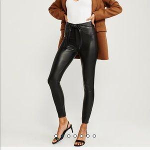 Ultra High Rise Faux Leather Leggings